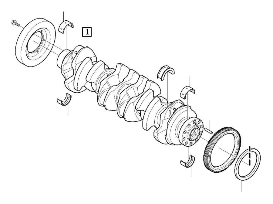 Volvo       XC60    Sealing ring Crank mechanism Engine