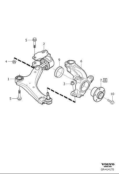 Volvo S60 Link Arm  Wheel Suspension   Eu    Cn    Left