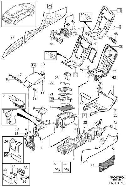 39823331 - Volvo Storage tray. Code, Interior, Tunnel ...